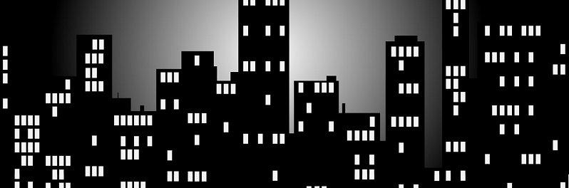 בניין משותף - בניינים בלילה