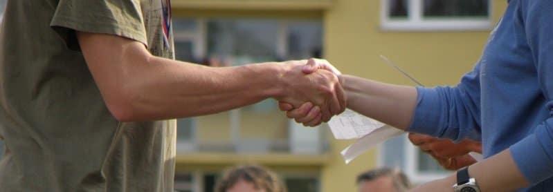 הסכם הלוואה - הסכמה ולחיצת ידיים