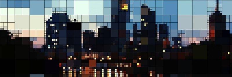 דיור למשתכן - בנייני דירות בלילה