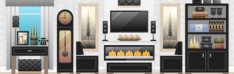 ביטוח דירה - איור של סלון בבית